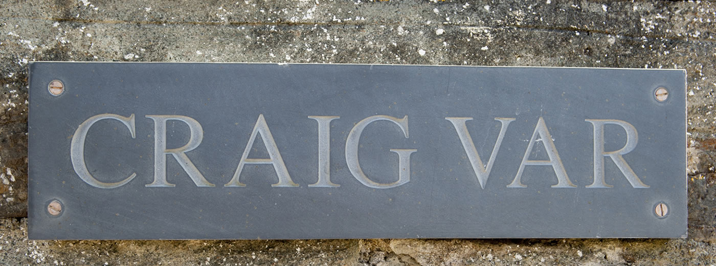 Slate House Sign For Craig Var