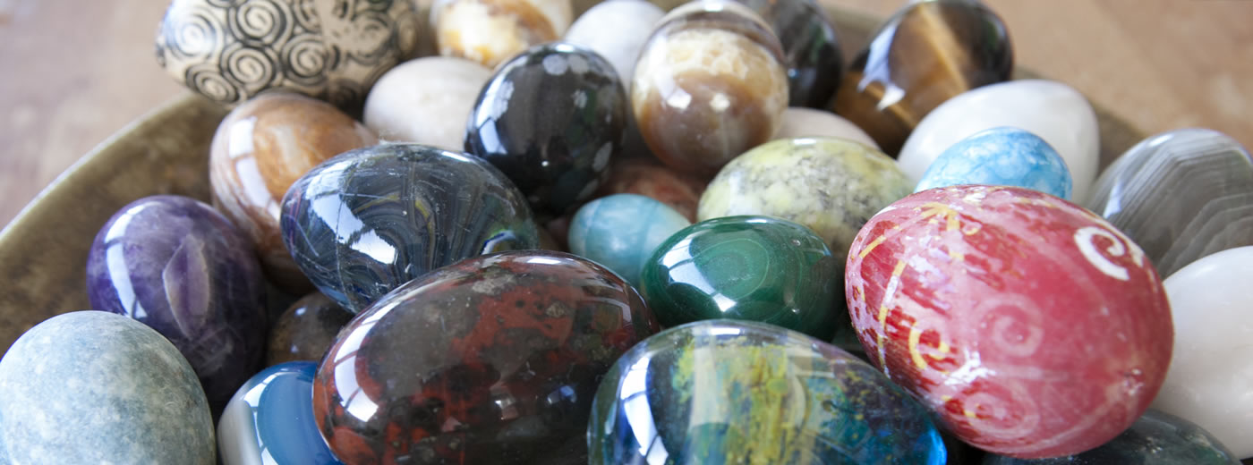 Polished Stones In A Bowl In Craig Var