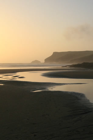 Polzeath Beach In Twilight